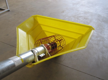 Yellow Auger Hopper for 6