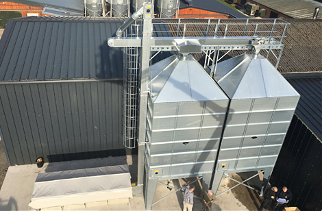 BM Silos with access ladder & catwalk