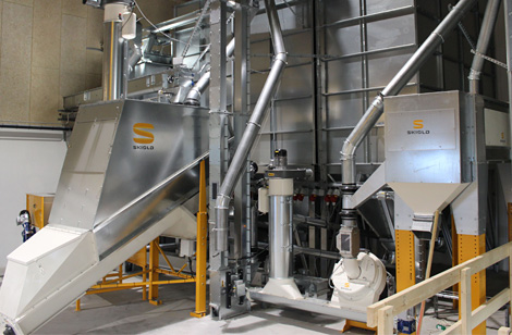 SKIOLD plant with Cleaner, Mill, Filter & Unimix