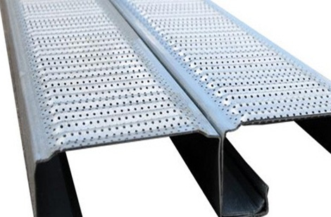 Interlocking planks with perforations