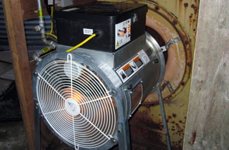 Upstream heater
