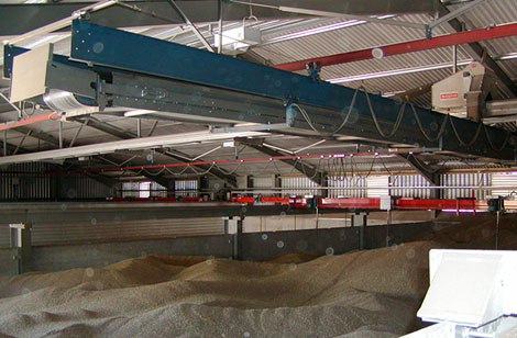 Flat store conveyors and stirrer