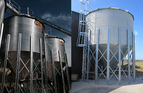 Silo with access ladder - Shropshire