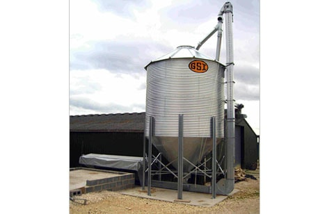 4m hopper with tarpaulin top feeding silo
