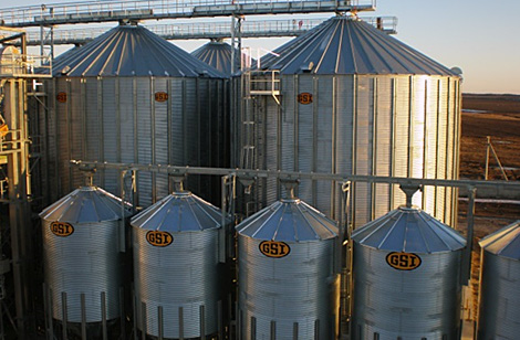 Silos on commercial store