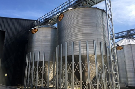 Catwalk over hopper silos - Shropshire