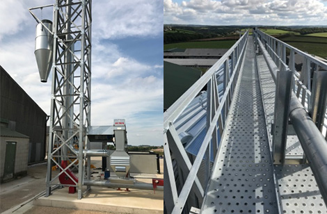 Tower & catwalk supporting Grain Pump - Lincs