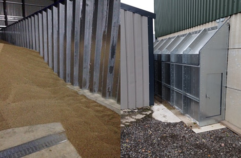 Steel wall & laterals / Outside tunnel