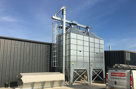 Completed wood pellet silo & intake project