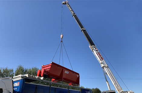 Craning equipment into place