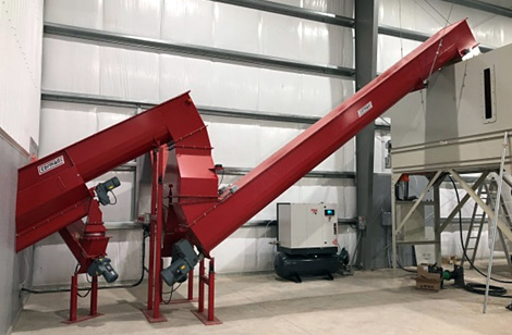 Dust Extraction and transport augers