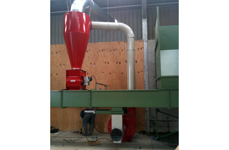 Cyclone and rotary valve from HDH-770 hammer mill