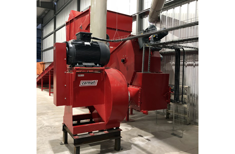 Cormall HDH-1000 hammer mill and stone trap