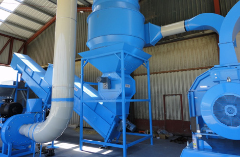 Filter, Rotary Valve & Suction Fan
