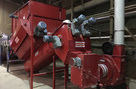 SBB1800 with twin augers & hammer mill