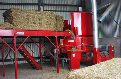 RBS300 Twin rotor machine, bale table & mill